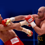Heavy blow: Tyson Fury on his way to beating Wladimir Klitschko to take the World heavyweight title in Germany last November