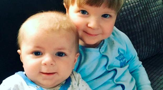 Family handout photo of four-month-old Archie Joe Darby and his 22-month-old brother Daniel. Archie was killed and Daniel seriously injured when they were bitten by a dog in Colchester, Essex. Photo credit should read: Family handout/PA Wire
