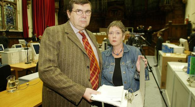 Strong views: Liam with Kathryn Bloody Sunday inquiry in Londonderry's Guildhall