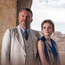 TOMB RAIDERS: Sam Neill as Lord Carnarvon, Amy Wren as Lady Evelyn and Max Irons as Carter. Below: Neill with Catherine Steadman, who plays Maggie