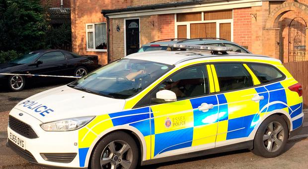 A police car at the house in Colchester, Essex. Credit: Sam Russell/PA Wire