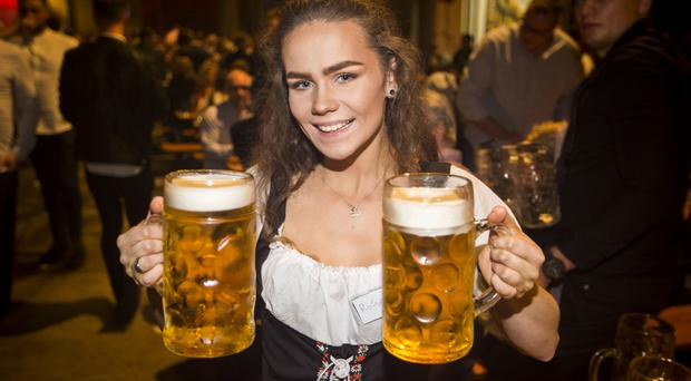 People out at the King's Hall for Oktoberfest. Saturday 15th October 2016. Liam McBurney/RAZORPIX
