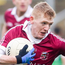 Focused: Slaughtneil's Christopher Bradley on the attack yesterday