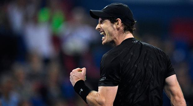 Sixth title this year: Andy Murray at moment of victory