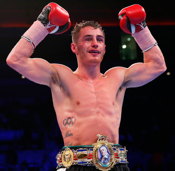 Belter: Ryan Burnett with the Lonsdale Belt after points win