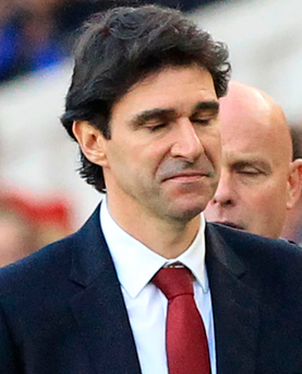 Middlesbrough manager Aitor Karanka has asked his players to remain positive despite their 1-0 defeat to Watford