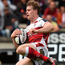 Touchdown: Andrew Trimble goes over for Ulster's only try in Bordeaux