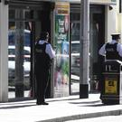 Police are investigating an altercation in the Castle Street/King Street area of Belfast City Centre at around midday today, Monday 17 October. Pic Colm Lenaghan/Pacemaker