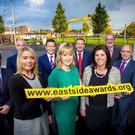 Alex Fleck , Jonathan Martindael , Simon Seaton , Stephen Patton , Philip Miley, Jonathan McAlpin , Lauren McDonald , Tara Mills and Caroline Prunty Pictured at the launch of the East side awards on the Newtownards Road - October 14th 2016, Northern Ireland (Photo by Kevin Scott / Belfast Telegraph)