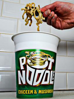 Unilever, who make Pot Noodles, blamed the collapse of sterling for their stand-off with Tesco