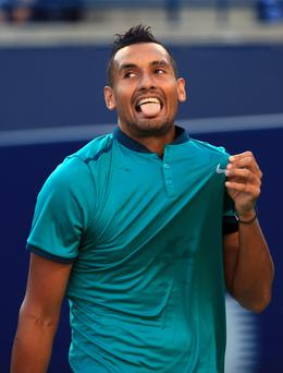 Controversial: Nick Kyrgios stopped trying at the Shanghai Masters