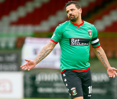 Joy and pain: Nacho Novo has struggled to make a meaningful contribution at Glentoran