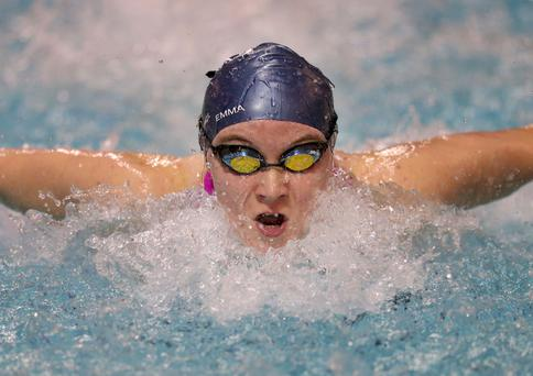 Splash: Emma Reid broke the 100m butterfly record twice