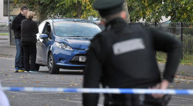 The scene of the accident on the Scarva Road in Banbridge yesterday