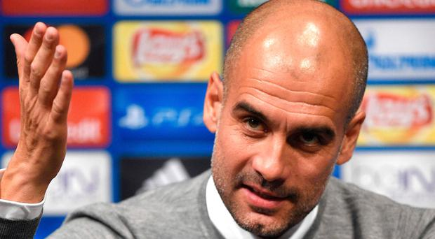 Animated: Pep Guardiola talks to the press at the Nou Camp
