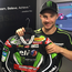 Top gear: Jonathan Rea with the leathers he has donated for auction in aid of Wayne Garrett