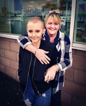 Alexandra Johnston and her mum Karen