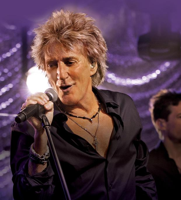 Rock royalty: Rod Stewart on stage