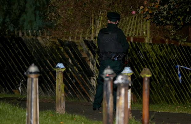Police at the scene of a shooting incident in the Glenwood Drive area of West Belfast on October 16th 2016, Northern Ireland (Photo by Kevin Scott / Presseye)