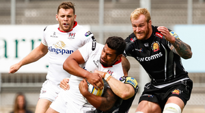 Gripping stuff: Charles Piutau in pre-season action for Ulster against Exeter Chiefs at Sandy Park back in August