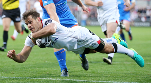 Flying form: Ludik had been Ulster's best player this year before injury