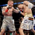 Back for more: Carl Frampton and Leo Santa Cruz will meet again in the MGM, Las Vegas in January