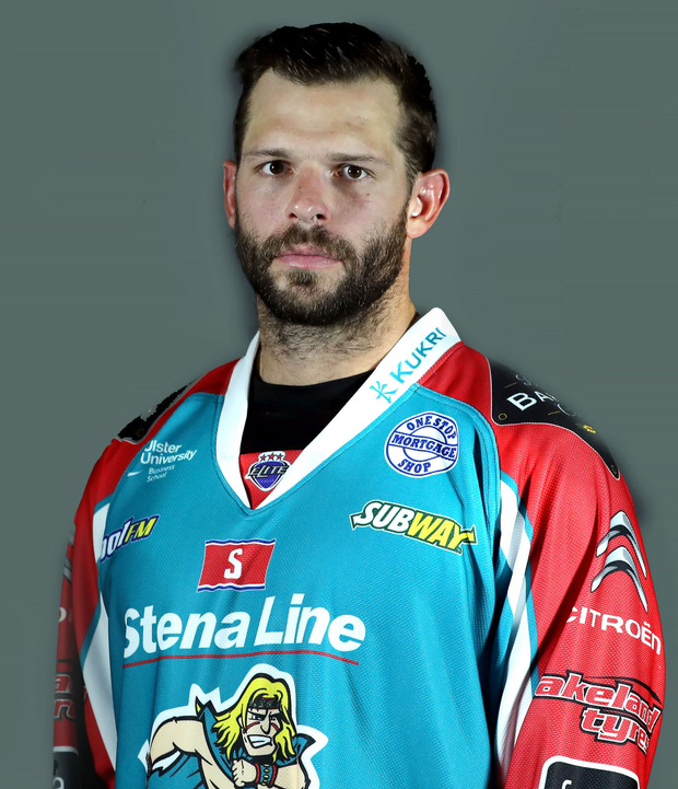 In-form: Blair Riley leading from the front for the Belfast Giants