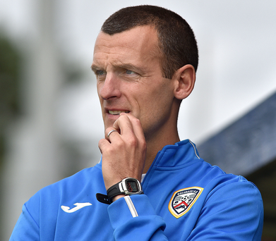 On guard: Oran Kearney knows Linfield will be smarting right now