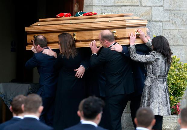 The funeral of Anthony Foley at St Flannan's Church, Killaloe, Co Clare.