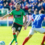 Kicking on: Aaron Harmon has urged his Glentoran team-mates to build on the victory over Dungannon Swifts, their first in the league since August 20