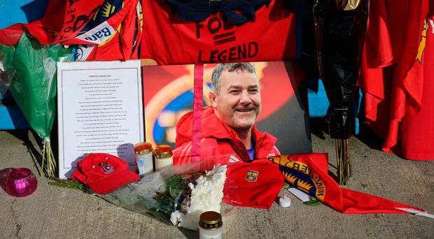 Gone but not forgotten: Tributes to the late Anthony Foley left at Thomond Park