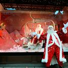 Father Christmas stands outside and admires the Christmas window displays themed as 'Shine on', at Sefridges department store in Oxford Street in central London. PRESS ASSOCIATION Photo. Picture date: Thursday October 20, 2016. Photo credit should read: John Stillwell/PA Wire