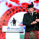 Press Eye - Belfast - Northern Ireland - 22nd October 2016 Ulster Unionist Party Conference 2016 at the Ramada Hotel, Belfast. Act of Remembrance to mark the Centenary of the Somme at the UUP party conference. Photo by Kelvin Boyes / Press Eye