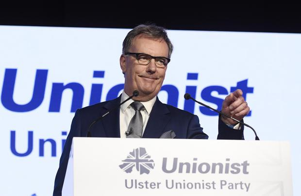 Ulster Unionist leader Mike Nesbitt giving his key note speech at his party's Autumn conference at the Ramada Hotel in Belfast