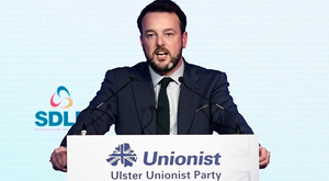 SDLP Party Leader Colm Eastwood speaks at the Ulster Unionist Autumn conference at the Ramada Hotel in Belfast