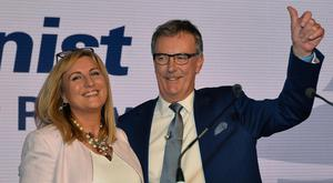 Ulster Unionist leader Mike Nesbitt and wife Lynda at his party's Autumn conference at the Ramada Hotel in Belfast. Photo Colm Lenaghan/Pacemaker Press
