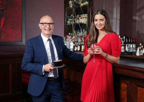 l Rebecca Maguire and Colin Neill, CEO Hospitality Ulster toast the announcement of the shortlist for Hospitality Ulsters Pub of the Year Awards 2016 fast approaches. A total of 46 venues and individuals will battle it out for the 13 Awards, which have been designed to highlight the very best that the hospitality industry are up for grabs. For further information and to see the full shortlist, visit www.nipuboftheyear.org
