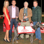 Top dog: Tennent's Gold Cup winner Toolmaker Scot with (from left) Tennent's promotions girl Sarah Moore; Connor Magill, Regional Sales Manager, Tennent's NI; owner William Hyslop and trainer Robert Guiney Gleeson