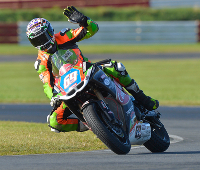 Top gear: Glenn Irwin recorded a hat-trick of victories at Bishopscourt