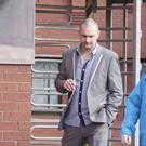 Loughgiel man Christopher Martin Laverty leaves Coleraine Magistrates' Court after getting a four months suspended jail sentence for three years after Police found him with a knuckle duster while arm wrestling in Ballycastle. Laverty pleaded guilty. Picture Mark Jamieson.