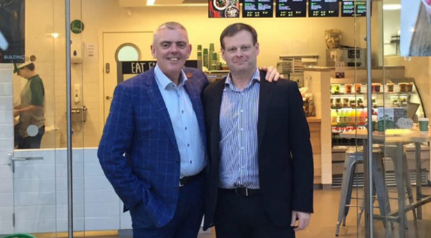 Freshii chief executive Dave O'Donoghue (left) and and his business partner Cormac Manning