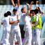 Roar of approval: England celebrate beating Bangladesh in a tense Test