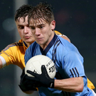 On the rise: Mark Bradley has staked a claim to be a regular Tyrone starter