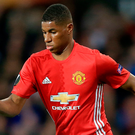 Determined: Marcus Rashford is eager to thwart City