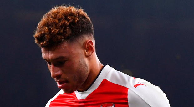 Top Gunner: There were two goals for Alex Oxlaide-Chamberlain last night