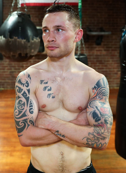 Round two: Carl Frampton is relishing another epic duel with Leo Santa Cruz