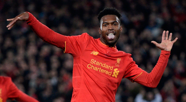 Just dance: Daniel Sturridge breaks into his famous celebration