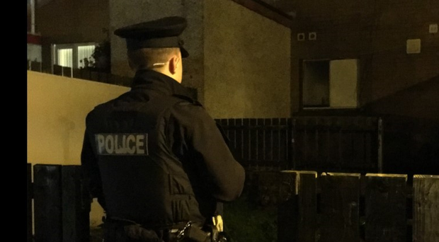 The man was found unconscious at a property in Ballymena.