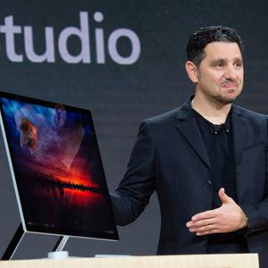 Microsoft Corporate VP of Devices, Panos Panay introduces Microsoft Surface Studio at a Microsoft news conference October 26, 2016 in New York. AFP/Getty Images