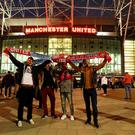 Fans outside the ground before the EFL Cup, round of 16 match at Old Trafford, Manchester. PA